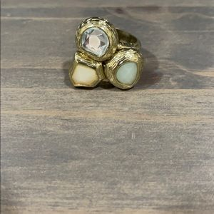 H&M 3 Stone Gold Statement Ring - Size 8